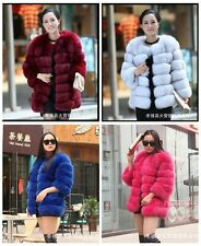 Fashion Women Winter Warm Outwear Coat Lady Slim Faux Fur Overcoat Jacket Coat