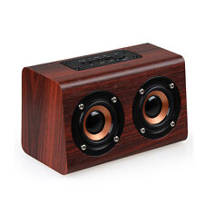 Classic Wooden Heavy Bass Speaker Bluetooth Wireless Subwoofer With Mic TF Card