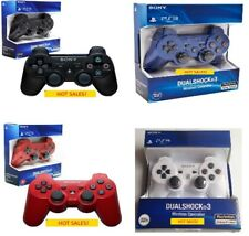 CONTROLLER WIRELESS BLUETOOTH FOR PS3  PLAYSTATATION 3 BLACK BLUE RED WHITE NEW