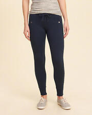 Abercrombie and Fitch Hollister Track Pants Women's Fleece Leggings XS Navy NWT