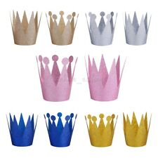 6PCS Birthday Crown Headband for Adult Baby Girls Party Hair Bands Accessories