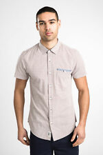 Threadbare Mens Short Sleeves Shirt Acrylic with Buttoned Front Chest Pocket
