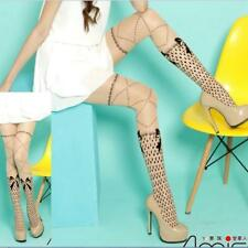 Tattoo Bow Cross Criss Polka Dot Pantyhose Tights Cosplay Stocking Pattern Cute.