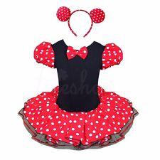 Halloween Minnie Mouse Costume Baby Girls Party Dress Up +Ears Outfit Tutu Skirt
