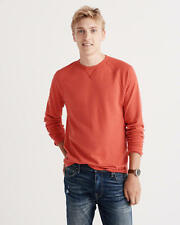 Abercrombie and Fitch T-Shirt Men's Waffle Knit Crew L/Sleeve Tee S Orange NWT