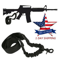 Tactical 1 One Single Point Adjustable Bungee Rifle Sling For AR 15 Black Strap