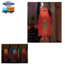Halloween Props Lighted Color Changing Trick or Treater Outdoor Decor Pumpkin