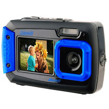 20 MP Waterproof Digital Camera Dual Screen LCD Pictures Screen Flash Wide Angle