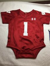 WISCONSIN BADGERS JERSEY BABY CREEPER  UNDER ARMOUR ALL SIZES - NWT-RETAIL $34
