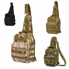 Tactical Military Sling Chest Pack Laptop Backpack Large Shoulder Message Bag US