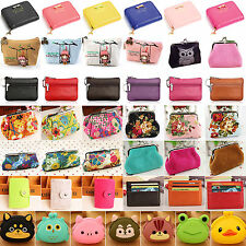 Women Mini Coin Purse Small Wallet Key Card Holder Case Bag Pouch Clutch Handbag