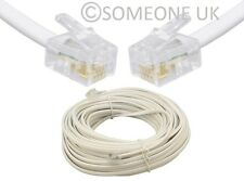 RJ11 Male to RJ 11 US 4 Pin Extension Lead For Modem Router ADSL Phone Cable UK