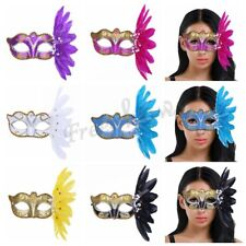 Feather Glitter Halloween Masquerade Eye Face Mask Venetian Costume Party Ball