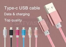 1.5m Heavy Duty Metal Braided USB Type C Data Sync Charger Cable