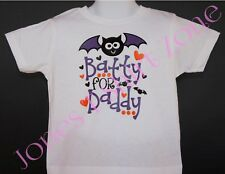 *New* Toddlers White Halloween T-Shirt - BATTY FOR DADDY - Girls or Boys