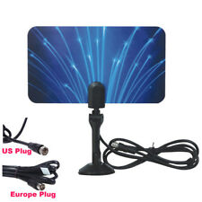 US Sale Digital Indoor HD TV HDTV DTV VHF UHF PC NB Flat High Gain Antenna 1080P