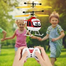 Toy RC Helicopter Cartoon Remote Control Drone Kid Plane Toy Induction Flying QW