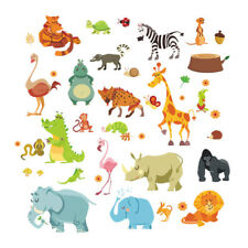 Jungle Animals Wall Stickers for Kids Rooms decal/home decor