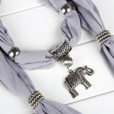 Alloy Elephant Pendant Scarf Charm Ring Jewelry Necklace Scarves OO55
