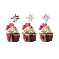 Funny Unicorn Cupcake Toppers Cake Muffin Food Picks Birthday Party Decoration