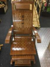 Bamboo Rocking Chair Adjustable Recliner Chair Indoor Outdoor Relaxing Cool竹摇躺椅