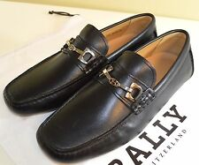 100% Authentic Bally Men Waffry Leather Driving Casual Shoes in Black 6171386