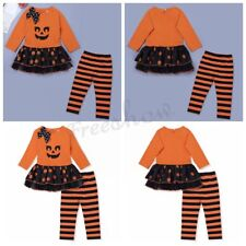 Newborn Baby Infant Girls Halloween Pumpkin Outfits Party Dress Costume Clothes