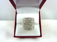 1.50 ct White Cubic Zirconia 925 Sterling Silver Cluster Ring