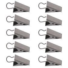 10Pcs Stainless Curtain Clips with Hook Shower Curtain Panel Catcher Hook Clips