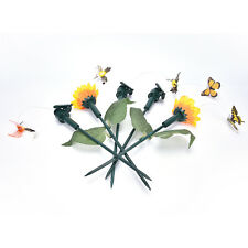 Vibration Solar Power Dancing Flying Fluttering Butterflies Garden Decor AB
