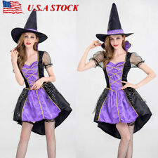 Adult Sexy Halloween Costume Witch Dress Cosplay Magician Role Play Masquerade