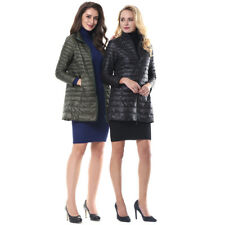 Gamiss Women Winter Long 90% Down Jacket Duck down coat Long Parka Outerwear