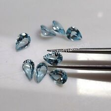 3x4MM TO 7x10 MM PEAR NATURAL SKY BLUE TOPAZ LOOSE GEMSTONE FACETED CUT BRAZIL