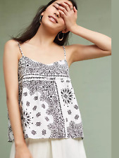 Anthropologie Bandana Cami by Organ Za XS Small Medium NWT Retail $198