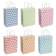 12pcs Polka Dot Paper Gift Bags Handled Loot Bags Tote Bags Wedding Party Favor