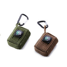 Outdoor Paracord Grenade Survival Fishing Kit Key Chain with 8 Tools