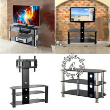 Glass TV Display Stand Entertainment Unit TV Cabinet Bench TV Table with Shelves