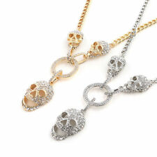 Skull Necklace Unisex Silver Gold Alloy Pendant Chain New 2018 Fashion Halloween