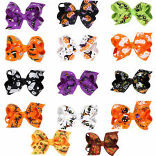 Halloween Girls Stylish Cute Baby Girls Hair Clips Hair Bows Accessories Gifts