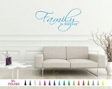 Family is Forever wall Quote vinyl Decal faith hope love everything USA sticker