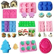 Christmas Silicone Cake Mold Pan Muffin Chocolate Cookie Pastry Baking Tray Mold