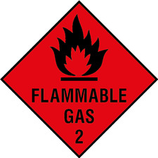 Flammable Gas Signs - self adhesive vinyl & plastic options
