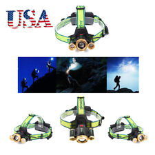 3X XML T6 LED Headlamp Zoomable 36000LM Headlight Torch Lamp Adjustable Focus EG