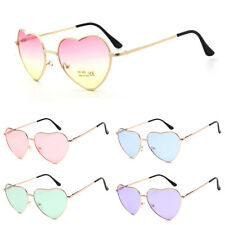 Womens Love Heart Shape Lens Sunglasses Eyewear Eye Glasses Shades Metal Frame