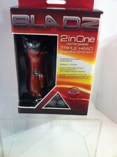 BLADZ--2 IN ONE RECHARGEABLE TRIPLE HEAD SHAVING SYSTEM--SHIPS FREE--NEW