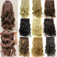 5 Clips in Hair Extensions Long Wavy Synthetic High Temperature Hair 24 Inches