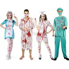 Bloody Surgeon Doctor Nurse Zombie Costume Halloween Fancy Dress Adult Outfit