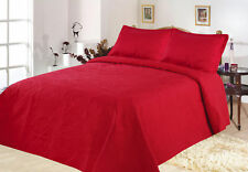 All American Collection New 3 Piece Solid Embroidered Bedspread/ Coverlet with