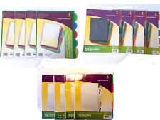 20 3-Ring Binder Tab Dividers Wexford 5/pack X 4 - Pocketed Write & Erase Index