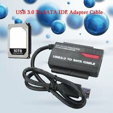 "NEW 891U3 USB 3.0 to 2.5"" 3.5"" HDD SATA IDE Adapter Converter+Power Cable IB"